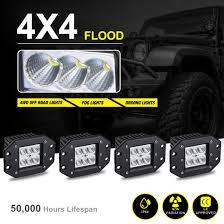 4PCS LED Pods Flood Flush Mount 5