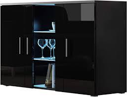mirjan24 kommode soho s7 highboard anrichte mehrzweckschrank farbauswahl sideboard wohnzimmerschrank schrank wohnzimmer schwarz schwarz