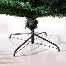HomCom 7 Pre Lit Rotating Christmas Tree With 4 Color LED Lights