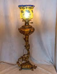 Antique Kerosene Lanterns Value by Art Nouveau Figural Bronze And Cameo Glass Kerosene Lamp For Sale