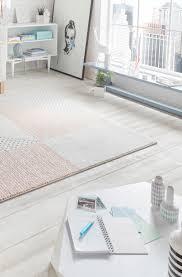 teppich in creme rosa teppich pastell teppich