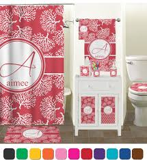 Coral Bathroom by Coral Bathroom Accessories Set Ceramic Personalized Potty