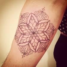 Simple Floral Inner Arm Tattoo