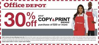off Copy & Print Services Printable Coupon at fice Depot