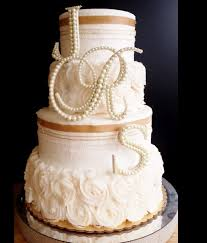 But With Rhinestones Instead Of Pearls Ivory Pearl Wedding Cake Topper 3 Letter Monogram Set
