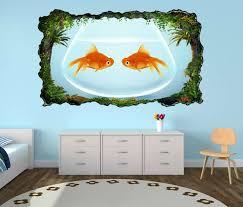 3d wandtattoo fische fisch paar goldfisch aquarium liebe tiere selbstklebend wandbild wandsticker wohnzimmer wand aufkleber 11o376 wandtattoos und