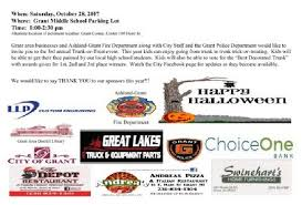 Grants Farm Halloween Events 2017 by City Of Grant Michigan