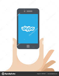 Illustration Of Human Hand Holding Mobile Phone With Skype Logo On ... Philips Pcfree Skypedect Phone Finally Coming Next Month Internet Voip Phone Systems Applied It Top 5 Android Voip Apps For Making Free Calls Polycom Vvx 400 Ip Skype Business Edition 220046157019 Equipment Applications Services Selection Quorum Cloud Usb From Lindy Uk Sip Trunking Explained Broadconnect Usa Viber Kakao Talk Tango Line Comparing The Most Popular Thking Pda Voipstudio Vs Usb Ip Voip Is A Service Or App