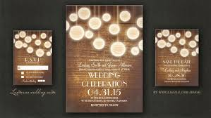 Read More LANTERNS RUSTIC WOODEN WEDDING INVITATION