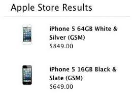 Factory unlocked iPhone 5 prices leak on Apple s US website