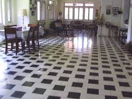 Black And White Combination Art Deco Floor Dating Back From 1930s