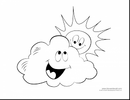 Magnificent Cloudy Weather Coloring Pages With And Windy