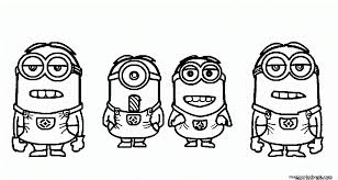 Minions From Despicable Me Movie Coloring Page