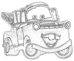 Mater Coloring Pages Lightning Mcqueen And To Print Kids