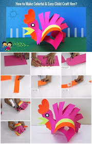 How To Make A Paper Hen Step By