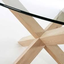 esszimmer glastisch in rund 120cm haldus