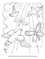 The Lords Prayer Coloring Pages