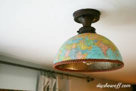 diy globe ceiling light fixture covers the glass on this specific