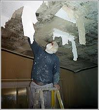 Scraping Popcorn Ceiling Off by Not Crazy About The Popcorn Cozy Crooked Cottage