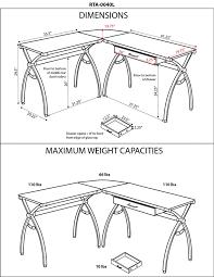 glass l shaped desk living glass l shaped office desk 2