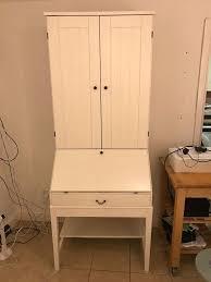 Ikea Hemnes Desk Uk by Ikea Alve Hemnes Bureau White Desk With Shelves And Drawers In