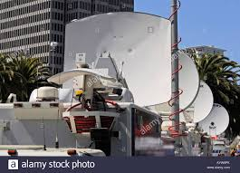 TV News Satellite Transmission Trucks, San Francisco Stock Photo ... Pmtv Sallite Uplink Trucks For Broadcast Live Streaming Trucks At The Coverage Of Timothy Mcveighs Exec Flickr Side Loader New Way The Best To Transmit Data In Really Wired 3d Rendering On Road With Path Traced By Stock Espn Gameday Truck Was Parked Nearby 2012 Us Presidential Primary Covering Coverage Tv News Broadcast Live With Antenna And Sallite Tv Truck Parabolic Frm N24 Channel Media Descend On Jpl Nasas Mars Exploration Program Rear View Of White Television Multiple