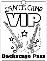 Secondary Craft Coloring Pages VIP Passes