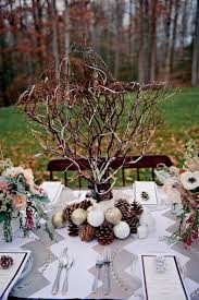 Rustic Winter Wedding Centerpieces
