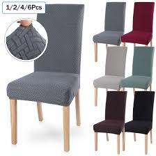 US $0.93 38% OFF 1/2/4/6Pcs Solid Color Chair Cover Spandex Stretch Elastic  Slipcovers Chair Covers For Dining Room Kitchen Hotel Banquet Wedding On ... Blancho Bedding 2 Piece Sets Of Elastic Chair Slipcovers Stretch Sofa Covers Cover Couch For 1 3 Seater Slipover Top Quality New Winter 1234 Thickened Sofa Cover Case Living Room Details About Easy Fit Lounge Protector 124x High Back Ding Knit Compare Idyllic Plant Print 4 Rowe Easton Casual And A Half With Slipcover Belfort Parson Life Is Party Best Sale 6847 1246pcs White Loviver 124pcs Removable 1246pcs Spandex Chairs Detachable Solid Color For Banquet Hotel Kitchen Wedding