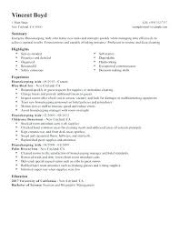 Resume Examples For Housekeeping Hotel Sample Best Aide Example Job