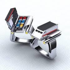 Star Trek Shuttlecraft ring by Paul Michael Design