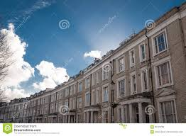 100 Row Houses Architecture White In London Typical Stock Image