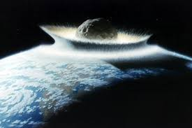An Artists Impression Of Asteroid Impacting Earth NASA Don Davis