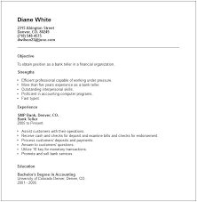 Resume Example With No Education And Good Bank Teller Examples Experience For Frame Perfect If Degree 974