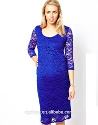 3 4 sleeves round neck lace tight maternity dress outdoor