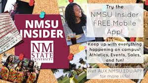 NMSU INSIDER Free Mobile App | Auxiliary Services | New Mexico ... Award Winners Office Of The President New Mexico State University Nmsu Insider Free Mobile App Auxiliary Services Aggie Express Housing Residential Life Activity Report August 14 20 Sallite Chilled Water Facility Increases Cooling Capacity On September 24 30 Renovation Corbett Center Student Union 27 2 Noche De Luminaries Brightens For 26th Consecutive Year Nmsu Hashtag Twitter Bookstore Offers More Than Just Books To Campus And