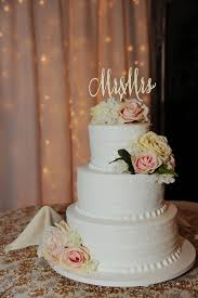 Mr And Mrs Cake Topper Wedding Gold Rose Silver Glitter Rustic