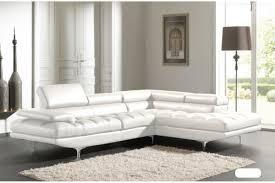 photos canapé d angle cuir blanc design
