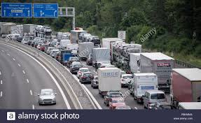 100 Stuck Trucks 12 July 2018 Stuttgart Germany Cars And Stuck In Traffic