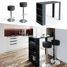 vicco bartisch bar tresen drei farben bartresen stehtisch tisch bistrotisch küche inkl barhocker