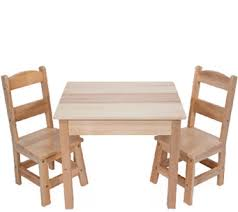 Melissa Doug Wooden Table Chairs Set