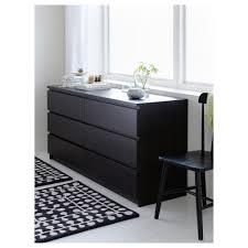 Malm 6 Drawer Dresser Dimensions by Malm Chest Of 6 Drawers Black Brown 160x78 Cm Ikea
