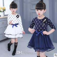 2018 2017 Spring Teenage Girls Children Clothing Brand Cotton Dot Tutu Dresses For Toddler Girl Kids Clothes Princess Dress Costume From Happy201799