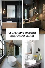 25 Creative Modern Bathroom Lights Ideas You'll Love - DigsDigs Unique Pendant Light For Bathroom Lighting Idea Also Mirror Lights Modern Ideas Ylighting Sconces Be Equipped Bathroom Lighting Ideas Admirable Loft With Wall Feat Opal Designing Hgtv Farmhouse Elegant 100 Rustic Perfect Homesfeed Backyard Small Patio Sightly Lovely 90 Best Lamp For Farmhouse 41 In 2019 Bright 15 Charm Gorgeous Eaging Vanity Bath Lowes