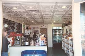 tin ceiling tiles in a keywest cafe kitchen ideas