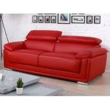 ventes uniques canapes vente unique canapé 3 places cuir de vachette mishka 215cm