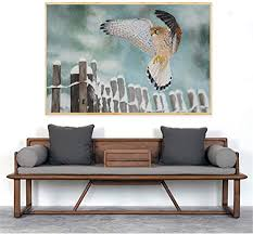 epsmk dekorative malerei ölgemälde turmfalke vogel poster