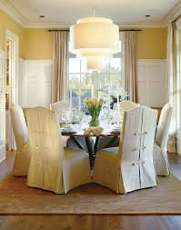 chair slipcover in dining room traditional with sunbrella fabric