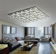 luxury large modern led ceiling chandelier light k9 square