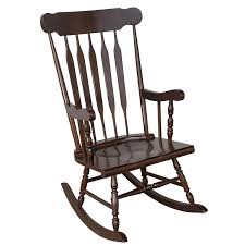 Amazon.com : HOMCOM Wooden Baby Nursery Rocking Chair - Dark Brown ...